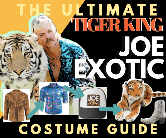 and Mustache Blonde Wig with Hat LINGDANG Tiger King Costume Set Clip Earrings Fits Kids and Adults,Blonde Mullet for Men and Women for Theme Party Halloween Cosplay Wig Joe Exotic Cosplay